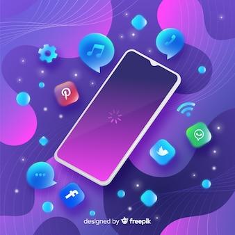 Antygrawitacyjny telefon komórkowy z elementami