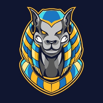 Anubis dog head illustration design