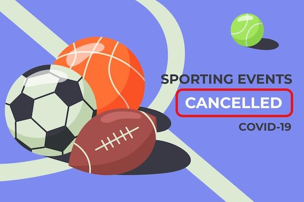 Anulowane wydarzenia sportowe - tło
