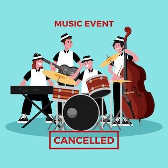 Anulowane wydarzenie dla ilustracji muzycznej