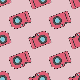 Aparat fotograficzny kolorowy wzór