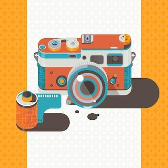 Aparat fotograficzny sztuka wektor fotografia streszczenie tło
