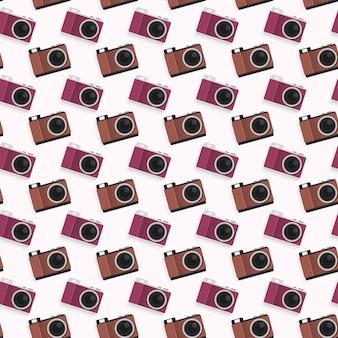 Aparat fotograficzny wzór tła szablonu