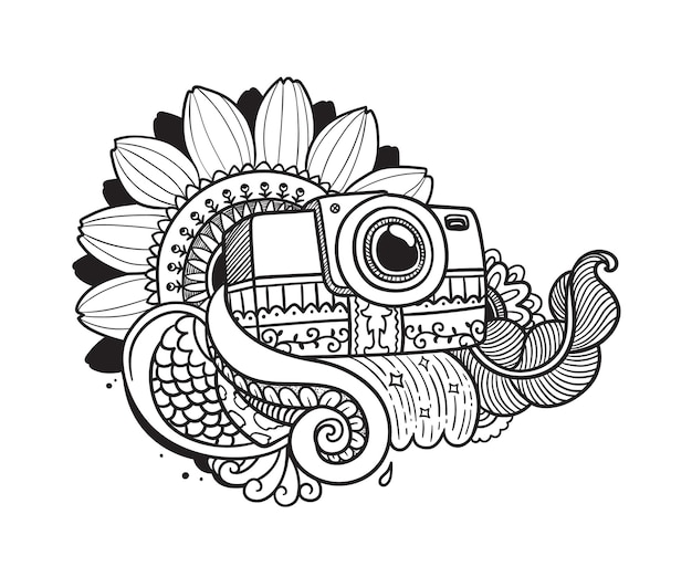 Aparat kwiatowy doodle