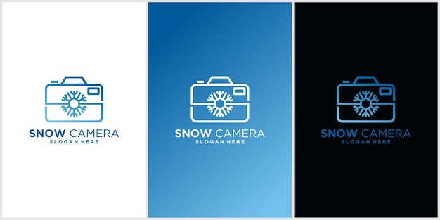 Aparat śnieżny inspiracja do projektowania logo fotografii krajobrazu