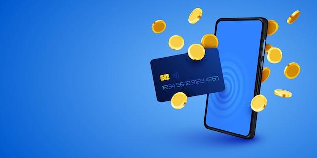 Aplikacja bankowości mobilnej płatności za pomocą smartfona elektroniczna karta kredytowa portfel telefoniczny bankowość internetowa