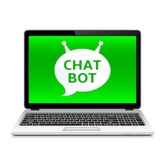 Aplikacja bot do czatu na ekranie laptopa