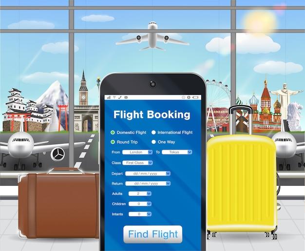 Aplikacja do rezerwacji biletów lotniczych na lotnisku