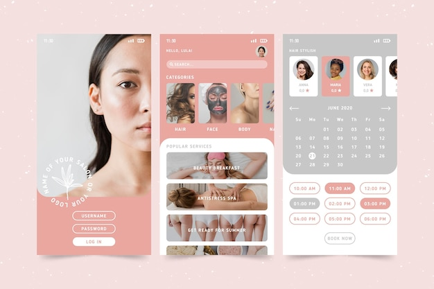 Aplikacja do rezerwacji salonu piękności