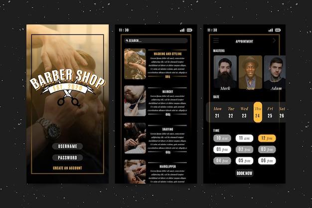 Aplikacja do rezerwacji sklepów fryzjerskich