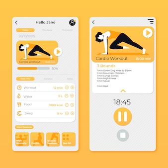 Aplikacja do śledzenia treningu