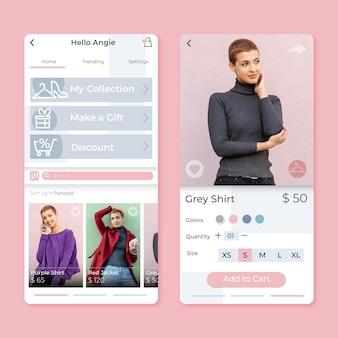 Aplikacja do zakupów mody
