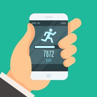 Aplikacja fitness tracker - licznik kroków, aby schudnąć