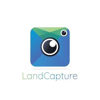 Aplikacja ikona logo fotografii. projektowanie logo fotografii abstrakcyjnej. studio fotograficzne, projekt koncepcji, godło, ikona, płaski element logotypu szablonu.