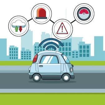 Aplikacja inteligentnego samochodu smarthphone