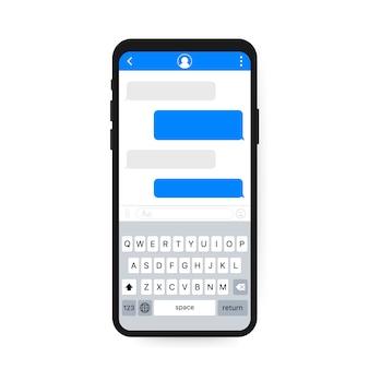 Aplikacja interfejsu czatu z szablonem okna dialogowego