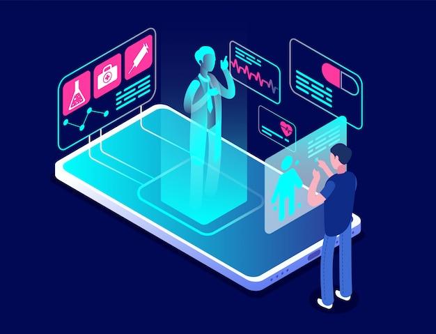 Aplikacja medyczna. aplikacja diagnostyczna i konsultacyjna na smartfonie.