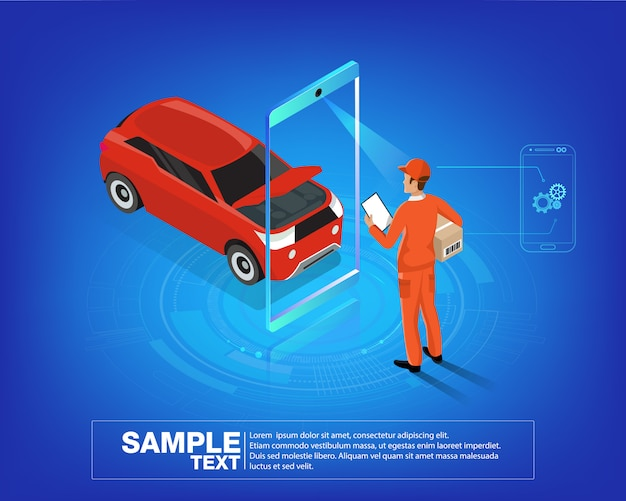 Aplikacja mobilna auto services
