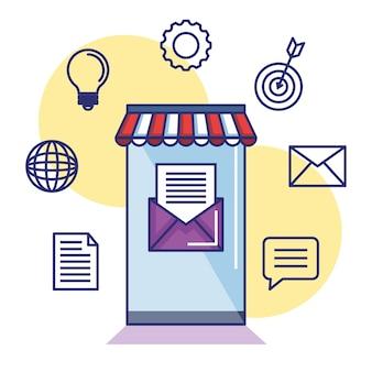 Aplikacja mobilna do informacji marketingowych e-mail