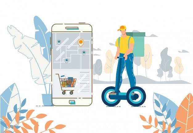 Aplikacja mobilna do zamawiania i dostawy koszyk żywności