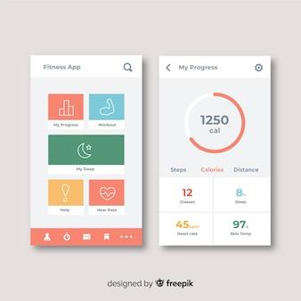 Aplikacja mobilna infografika płaski kształt