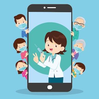 Aplikacja mobilna lekarz rodzina korzystanie z usługi control health consult online