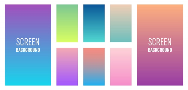 Aplikacja mobilna miękki kolor tła.