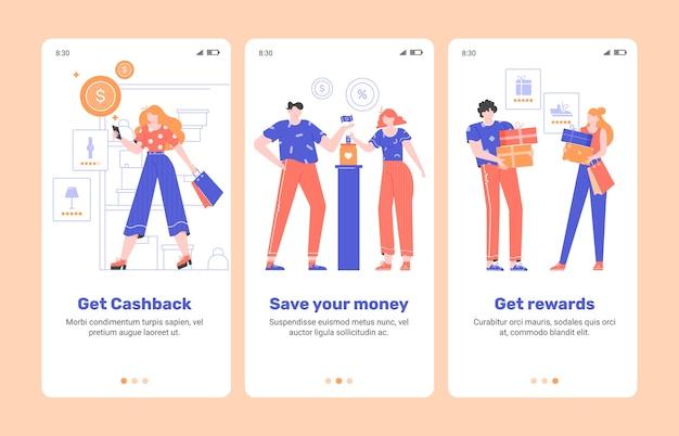 Aplikacja mobilna onboarding finance.