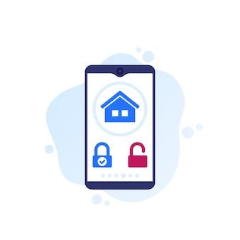 Aplikacja mobilna smart lock, projektowanie wektorowe