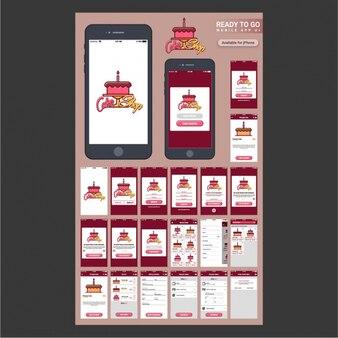 Aplikacja mobilna z ciasta