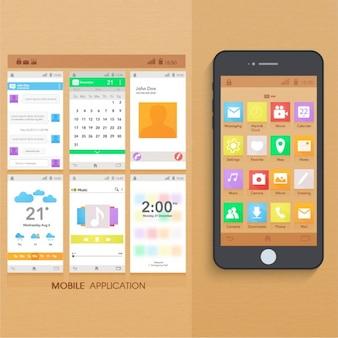 Aplikacja mobilna z kilkoma ekranami