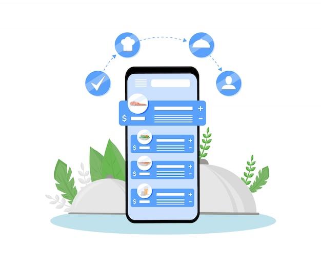 Aplikacja mobilna zamawia posiłki online