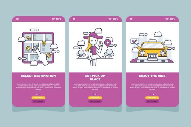 Aplikacja na telefon komórkowy z usługą taxi