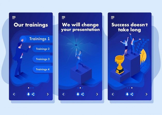 Aplikacja szablon izometryczny zmieniamy rzeczywistość, niszczymy twoje spojrzenie na nowoczesne firmy, aplikacje na smartfony