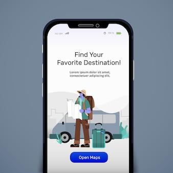 Aplikacja traveling online kit maps