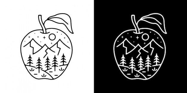 Apple mountain monoline