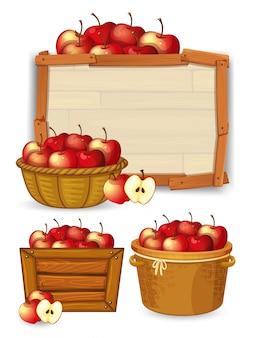Apple na drewnianej desce