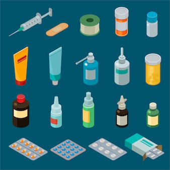 Apteki medycyny wektorowi leki lub pigułki w ilustraci zbiornika lub makiety butelki