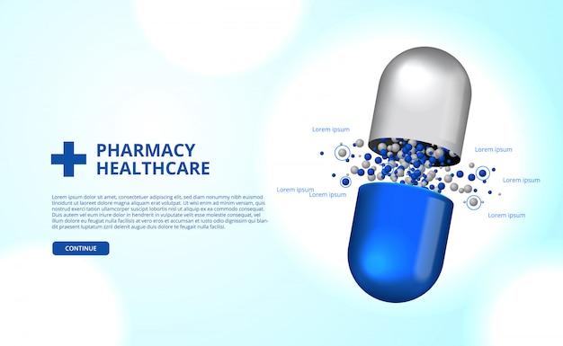Apteki pigułki kapsułki medycyny opieki zdrowotnej