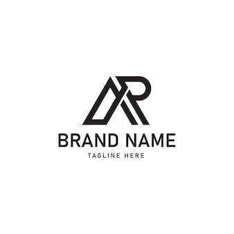 Ar szablon projektu logo wektor graficzny element marki