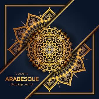 Arabeskowa luksusowa mandala tło