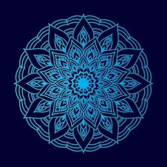 Arabeskowa mandala tło