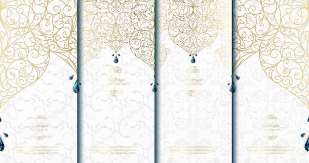 Arabeskowy abstrakcjonistyczny islamski szablon