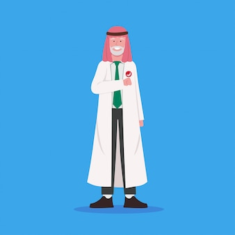Arabian old man doctor character