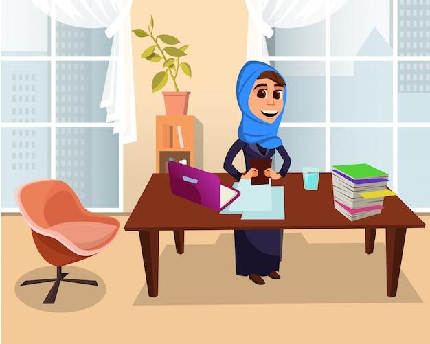 Arabian woman pracownik biurowy lub freelancer praca