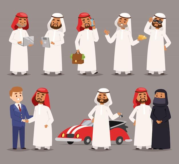 Arabowie ilustracji.
