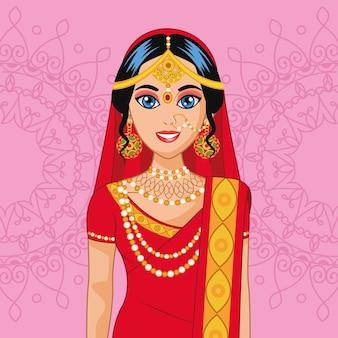 Arabska śliczna panna młoda