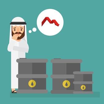 Arabski biznesmen z cen ropy spada