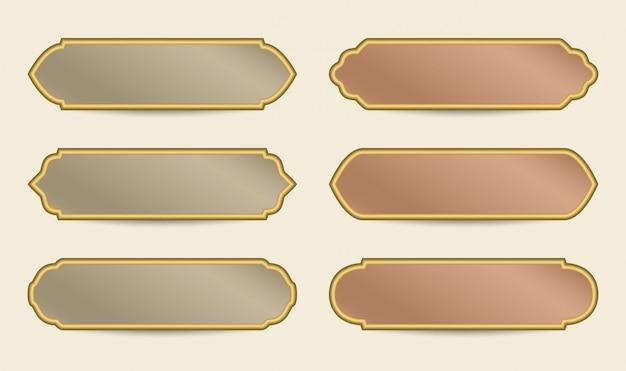 Arabski kolorowy sztandar szablon
