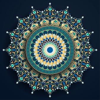 Arabski kwiatowy i geometryczny ornament marokański